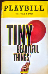 playbill Tiny, Beautiful things